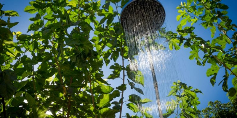 portable shower outdoor
